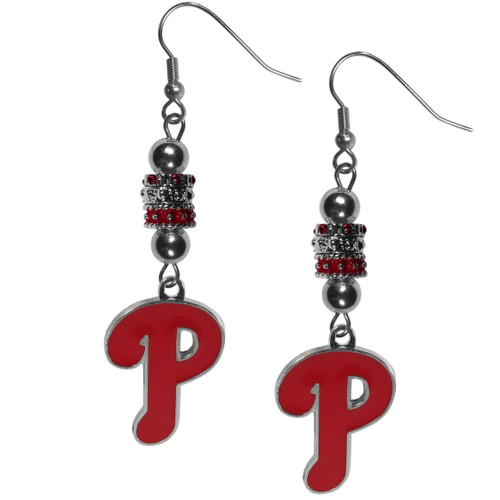Philadelphia Phillies Earrings Fish Hook Post Euro Style