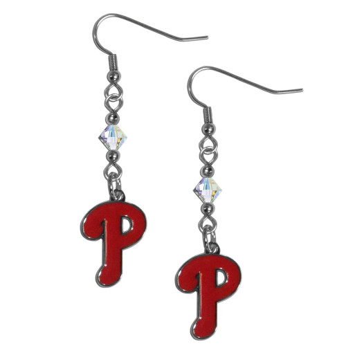 Philadelphia Phillies Earrings Fish Hook Post Style