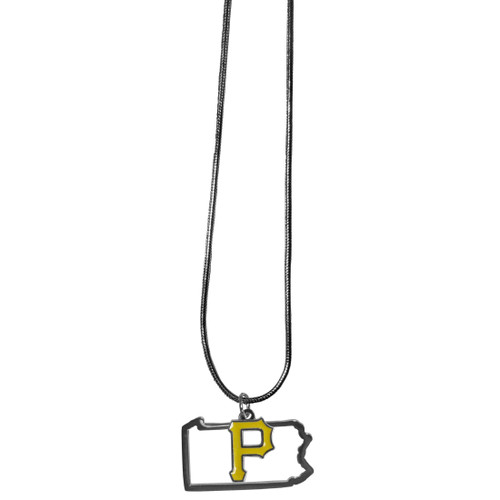 Pittsburgh Pirates Necklace Chain with State Shape Charm