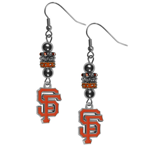 San Francisco Giants Earrings Fish Hook Post Euro Style