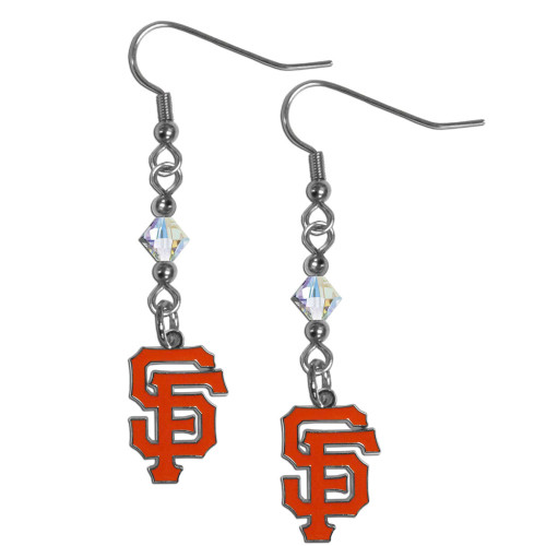 San Francisco Giants Earrings Fish Hook Post Style
