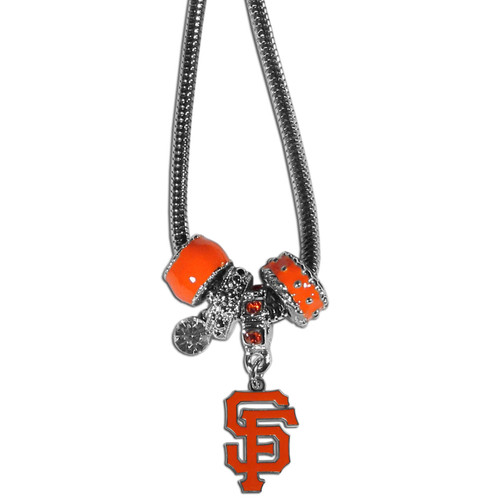 San Francisco Giants Necklace Euro Bead Style