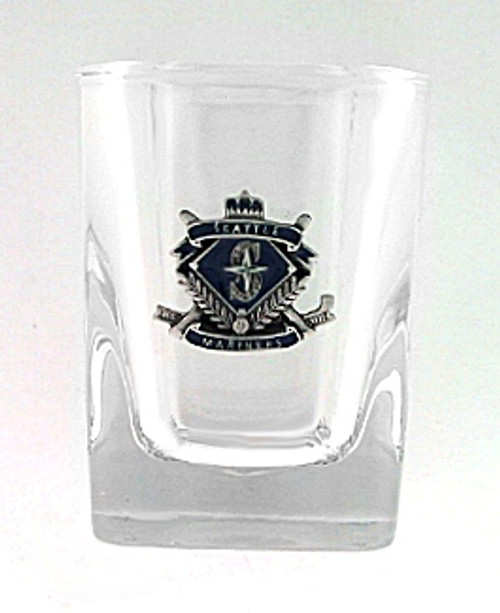 Seattle Mariners Glass Shot Square