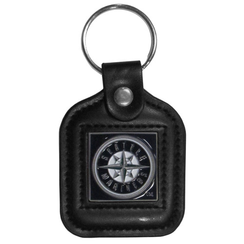Seattle Mariners Key Ring Square Leather
