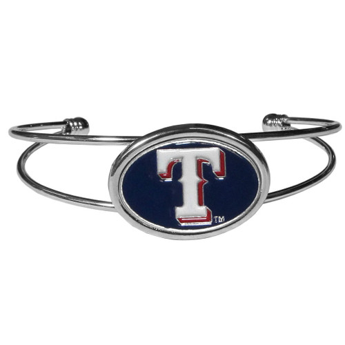 Texas Rangers Bracelet Double Bar Cuff