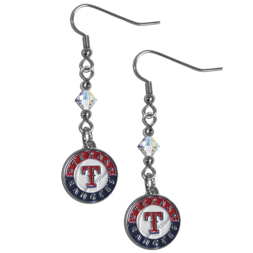 Texas Rangers Earrings Fish Hook Post Style