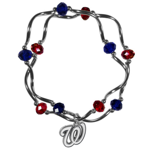 Washington Nationals Bracelet Colored Bead