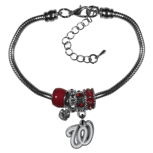Washington Nationals Bracelet Euro Bead Style