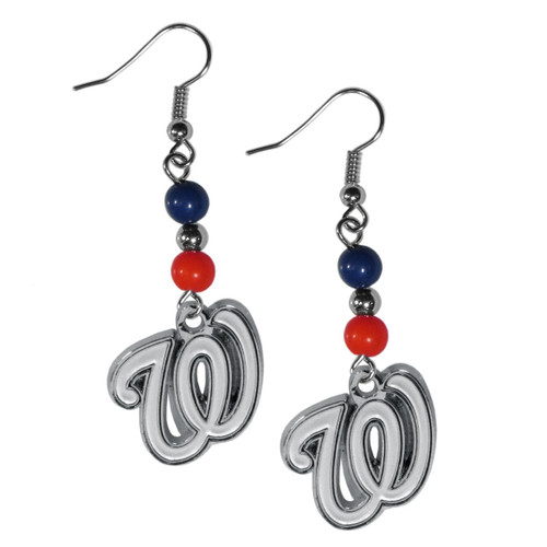 Washington Nationals Earrings Dangle Style