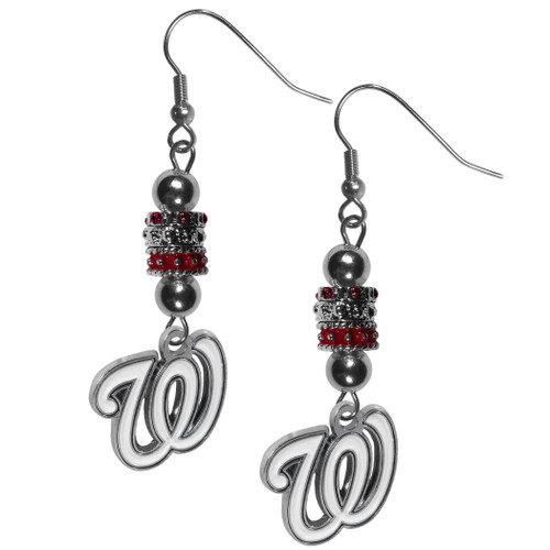 Washington Nationals Earrings Fish Hook Post Euro Style