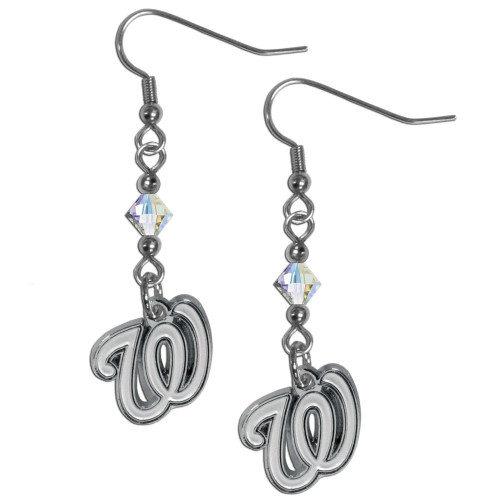 Washington Nationals Earrings Fish Hook Post Style