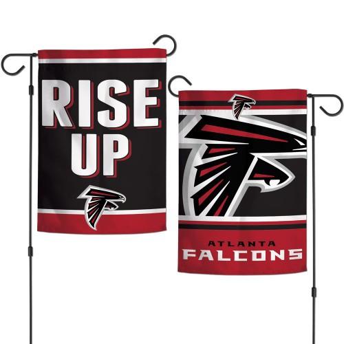 Atlanta Falcons Flag 12x18 Garden Style 2 Sided Slogan Design - Special Order