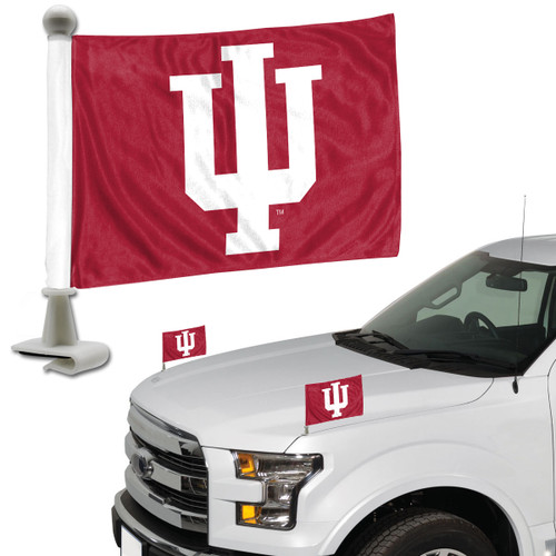 Indiana Hoosiers Flag Set 2 Piece Ambassador Style - Special Order