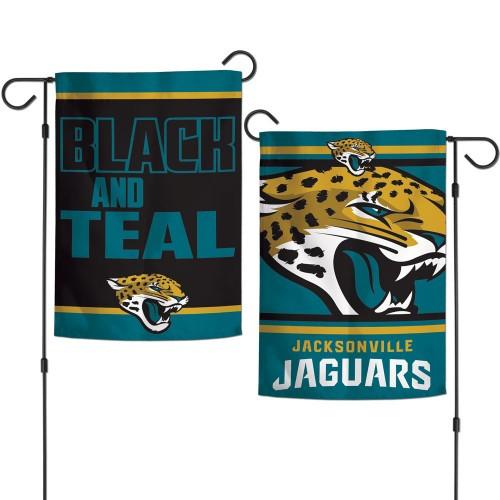 Jacksonville Jaguars Flag 12x18 Garden Style 2 Sided Slogan Design - Special Order