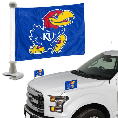 Kansas Jayhawks Flag Set 2 Piece Ambassador Style - Special Order