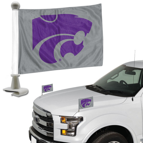 Kansas State Wildcats Flag Set 2 Piece Ambassador Style - Special Order