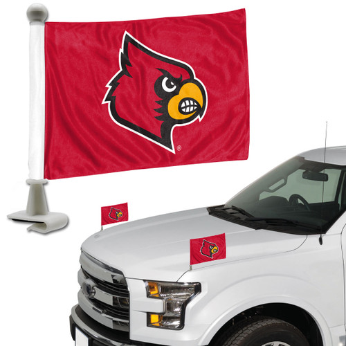 Louisville Cardinals Flag Set 2 Piece Ambassador Style - Special Order