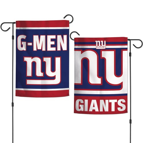 New York Giants Flag 12x18 Garden Style 2 Sided Slogan Design - Special Order