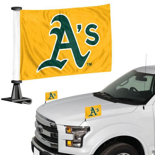 Oakland Athletics Flag Set 2 Piece Ambassador Style - Special Order