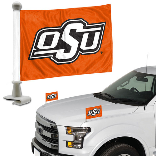 Oklahoma State Cowboys Flag Set 2 Piece Ambassador Style - Special Order