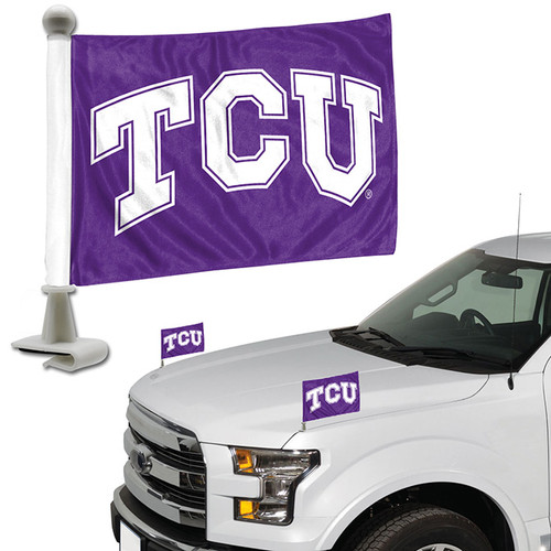 TCU Horned Frogs Flag Set 2 Piece Ambassador Style - Special Order