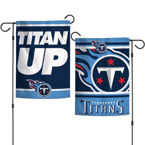Tennessee Titans Flag 12x18 Garden Style 2 Sided Slogan Design - Special Order