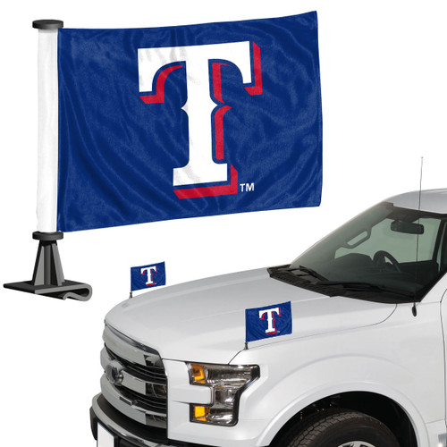 Texas Rangers Flag Set 2 Piece Ambassador Style - Special Order