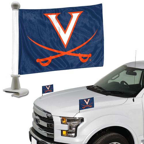 Virginia Cavaliers Flag Set 2 Piece Ambassador Style - Special Order
