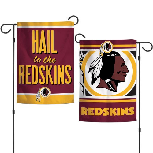 Washington Redskins Flag 12x18 Garden Style 2 Sided Slogan Design - Special Order