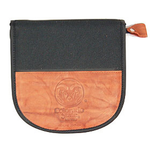 Colorado State Rams CD Case Leather/Nylon Embossed