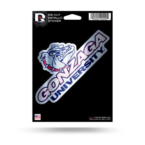 Gonzaga Bulldogs Decal Die Cut Metallic - Special Order