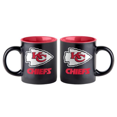 Kansas City Chiefs Coffee Mug 14oz Matte Black - Special Order