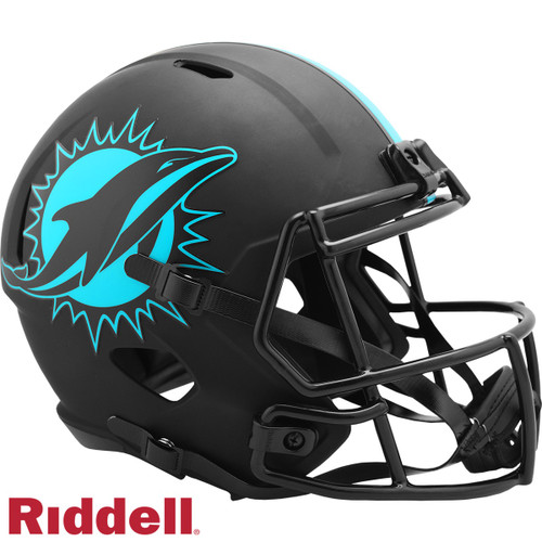 Miami Dolphins Helmet Riddell Replica Full Size Speed Style Eclipse Alternate Special Order