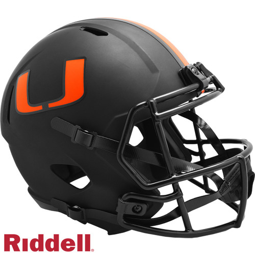Miami Hurricanes Helmet Riddell Replica Full Size Speed Style Eclipse Alternate Special Order