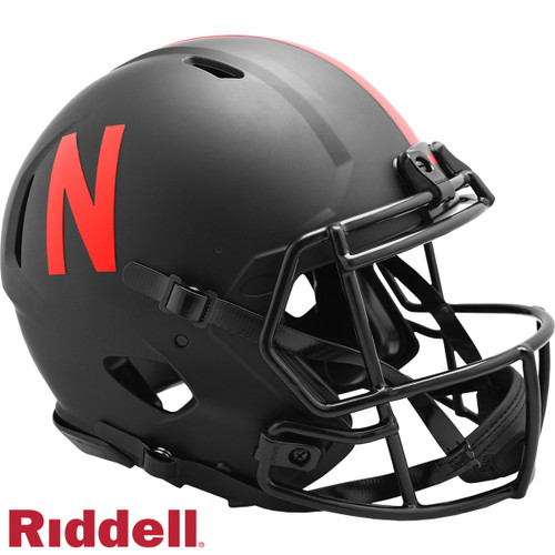 Nebraska Cornhuskers Helmet Riddell Authentic Full Size Speed Style Eclipse Alternate Special Order