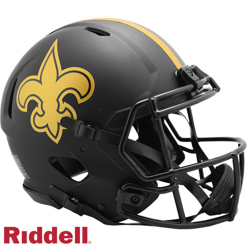New Orleans Saints Helmet Riddell Authentic Full Size Speed Style Eclipse Alternate Special Order