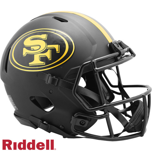 San Francisco 49ers Helmet Riddell Authentic Full Size Speed Style Eclipse Alternate Special Order