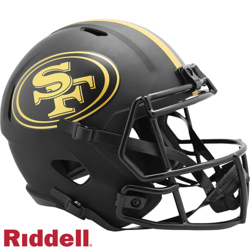 San Francisco 49ers Helmet Riddell Replica Full Size Speed Style Eclipse Alternate Special Order