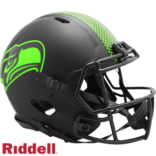 Seattle Seahawks Helmet Riddell Authentic Full Size Speed Style Eclipse Alternate Special Order