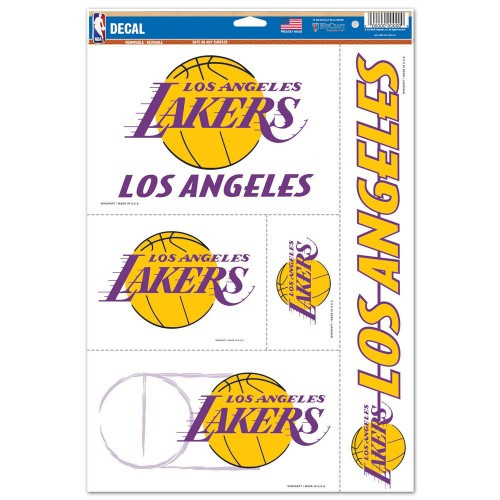 Los Angeles Lakers Decal 11x17 Multi Use 5 Piece Special Order