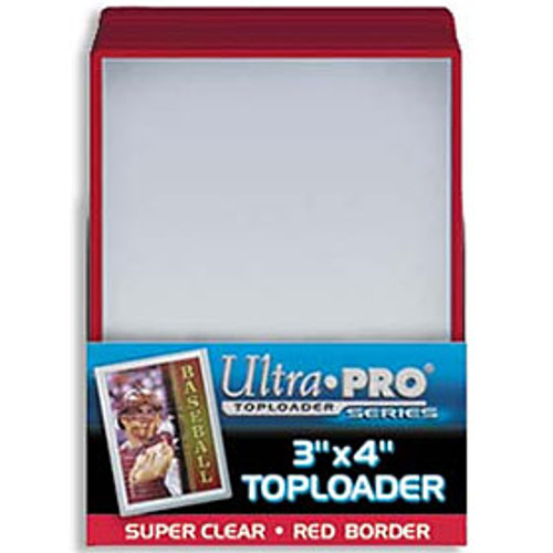 Top Loader - 3x4 Red (25 per pack) Special Order