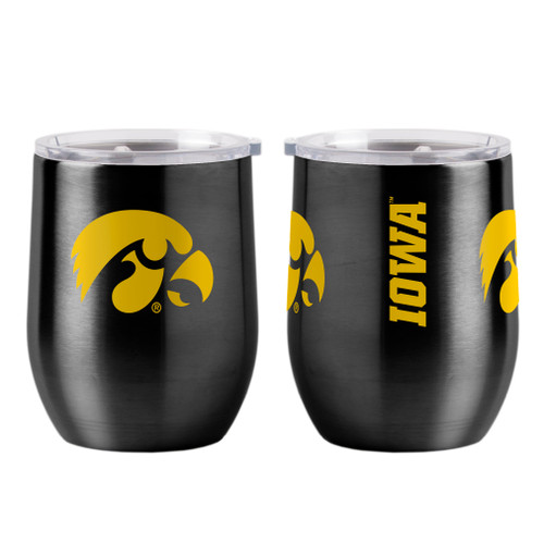 Iowa Hawkeyes Travel Tumbler 16oz Ultra Curved Beverage