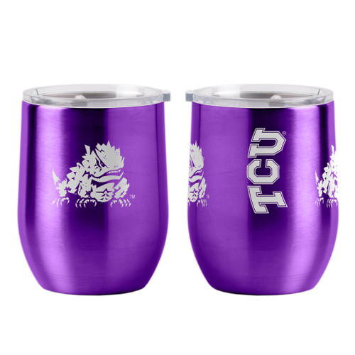 TCU Horned Frogs Travel Tumbler 16oz Ultra Curved Beverage Special Order