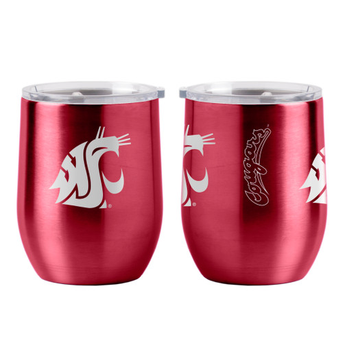 Washington State Cougars Travel Tumbler 16oz Ultra Curved Beverage Special Order