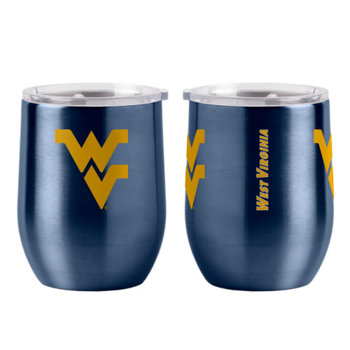 West Virginia Mountaineers Travel Tumbler 16oz Ultra Curved Beverage Special Order