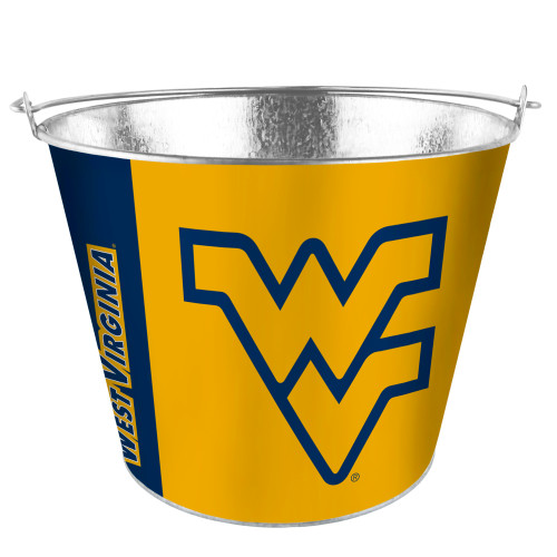 West Virginia Mountaineers Bucket 5 Quart Hype Design Special Order