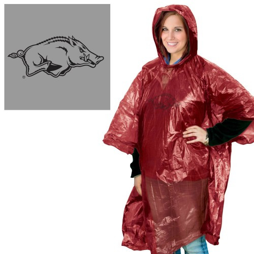 Arkansas Razorbacks Rain Poncho