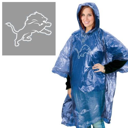Detroit Lions Rain Poncho