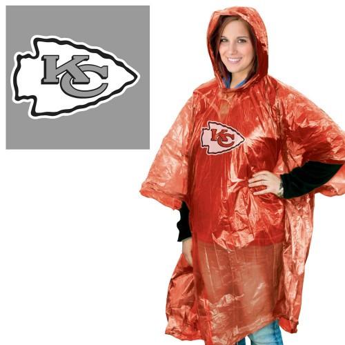 Kansas City Chiefs Rain Poncho