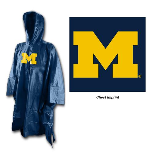 Michigan Wolverines Rain Poncho
